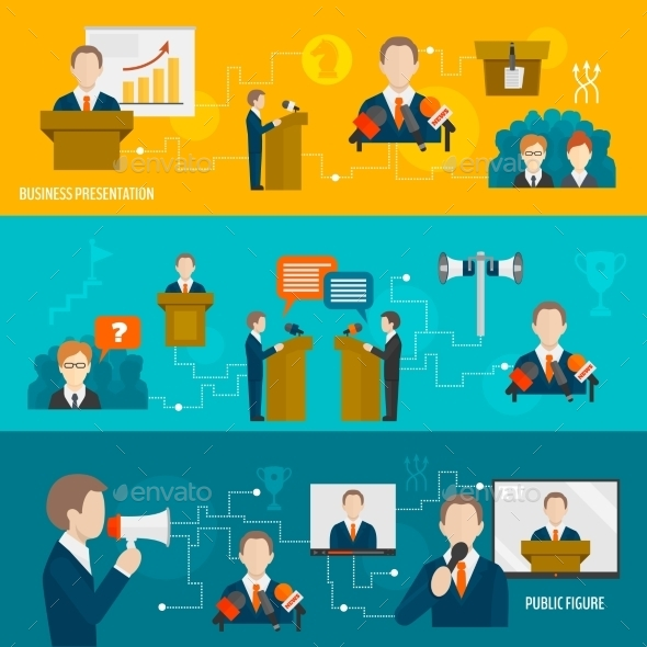 Public Speaking Banner Set - Concepts Business