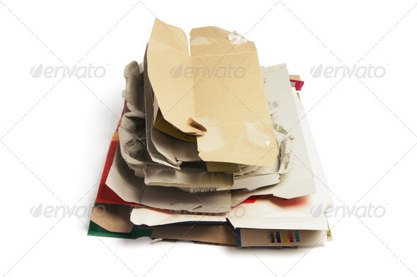 Waste Paper Products - Stock Photo - Images