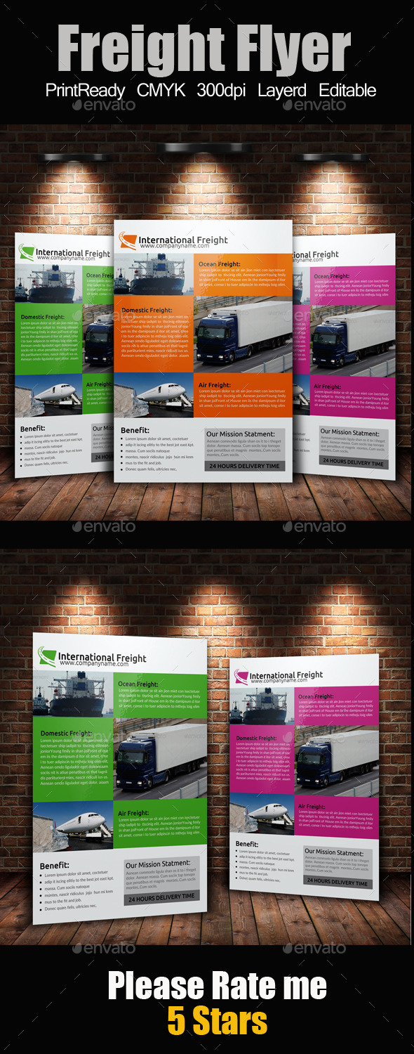 A4 International Freight Flyer - Corporate Flyers