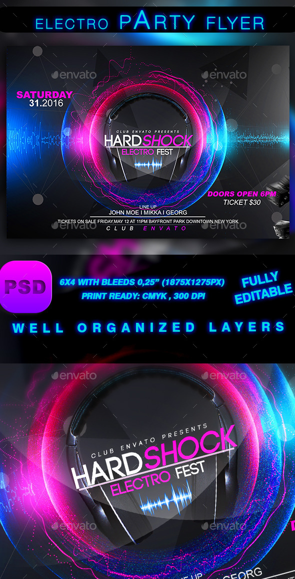 Electro Sound Party - Events Flyers