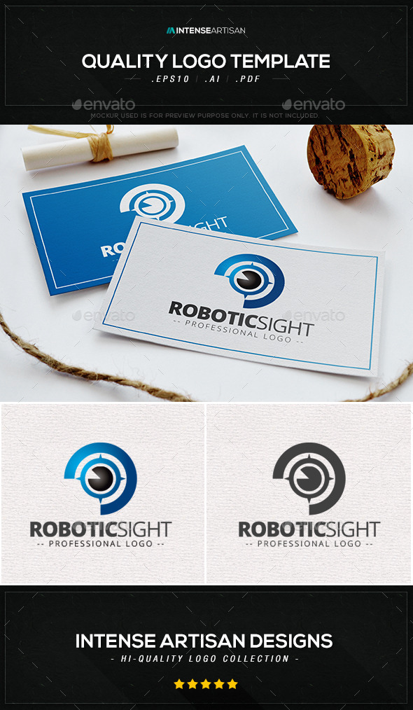 Robotic Sight Logo Template - Humans Logo Templates