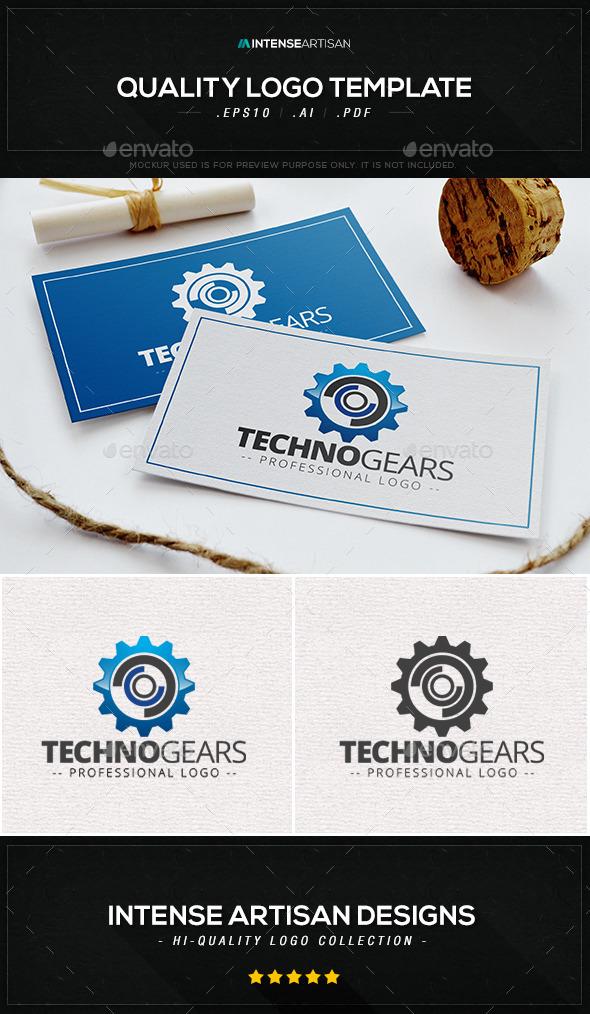 Techno Gear Logo Template - Objects Logo Templates