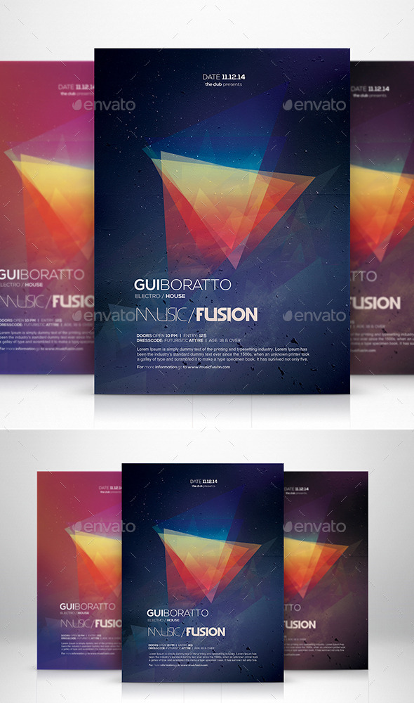 Music Fusion Flyer Template - Clubs & Parties Events