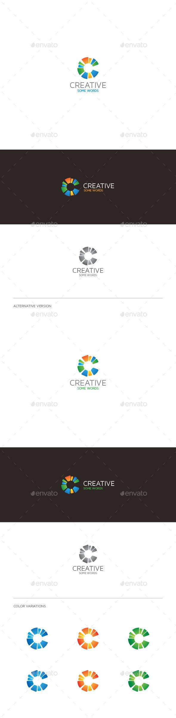Creative C Letter Logo - Letters Logo Templates