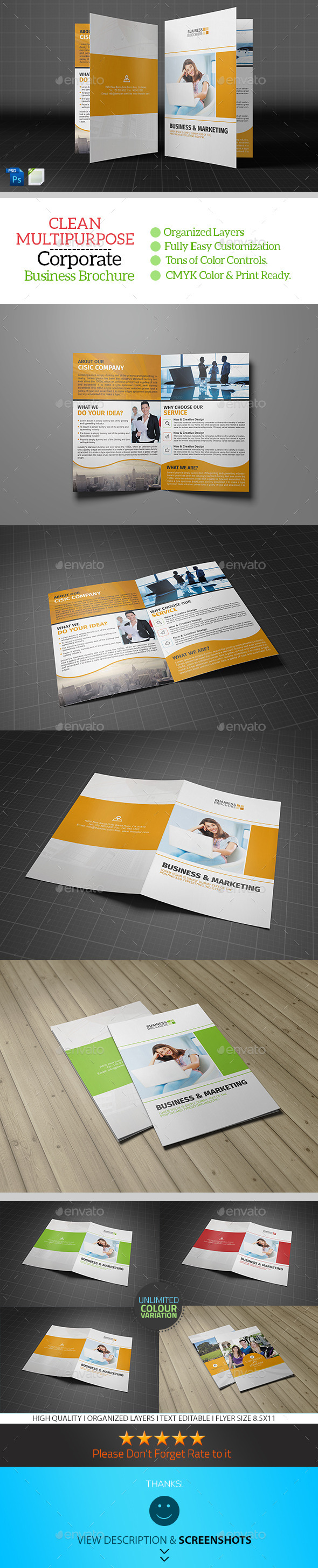 Corporate Bifold Brochure Template Vol04 - Corporate Brochures