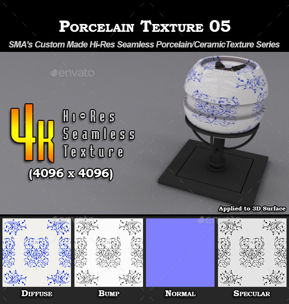 Hi-Res Porcelain Texture - 05 - 3DOcean Item for Sale