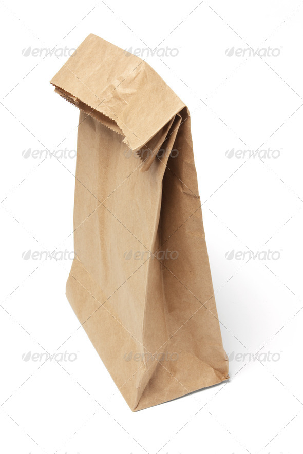 Brown Lunch Bag - Stock Photo - Images