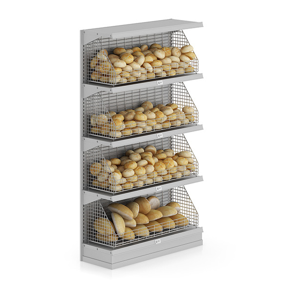 Market Shelf - Breads and buns - 3DOcean Item for Sale