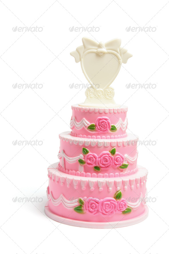 Miniature Wedding Cake Figurine - Stock Photo - Images