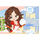 Woman Wipes the Dishes - GraphicRiver Item for Sale