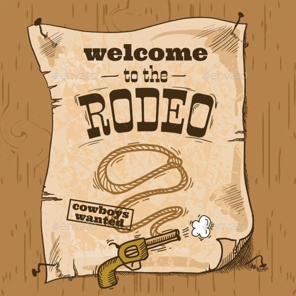 Rodeo Retro Poster - Miscellaneous Vectors