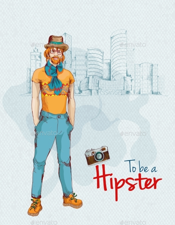 Hipster Boy City - People Characters