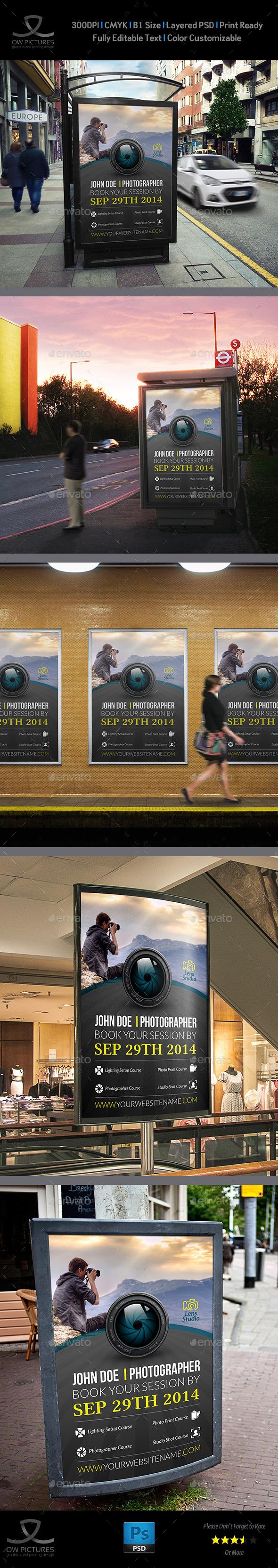 Photographer Poster Template - Signage Print Templates