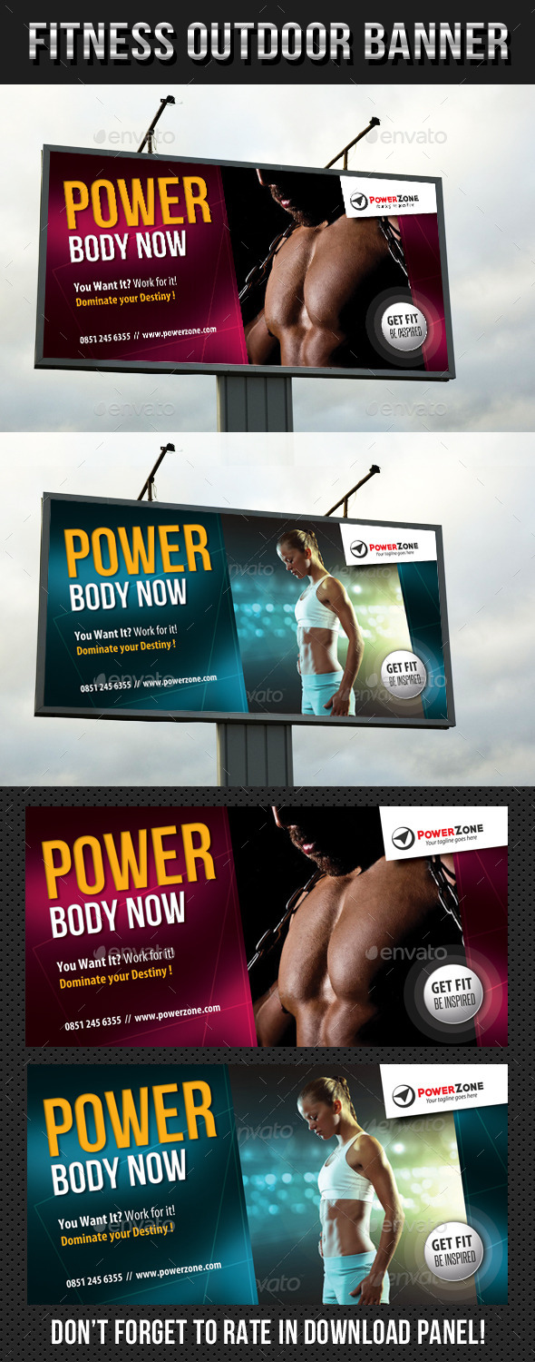 Fitness Outdoor Banner 13 - Signage Print Templates