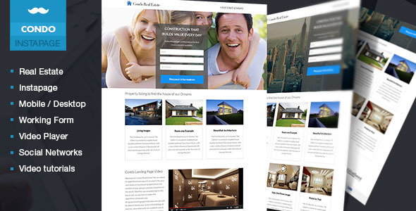 Condo - Real Estate Lead Generation Template - Instapage Marketing