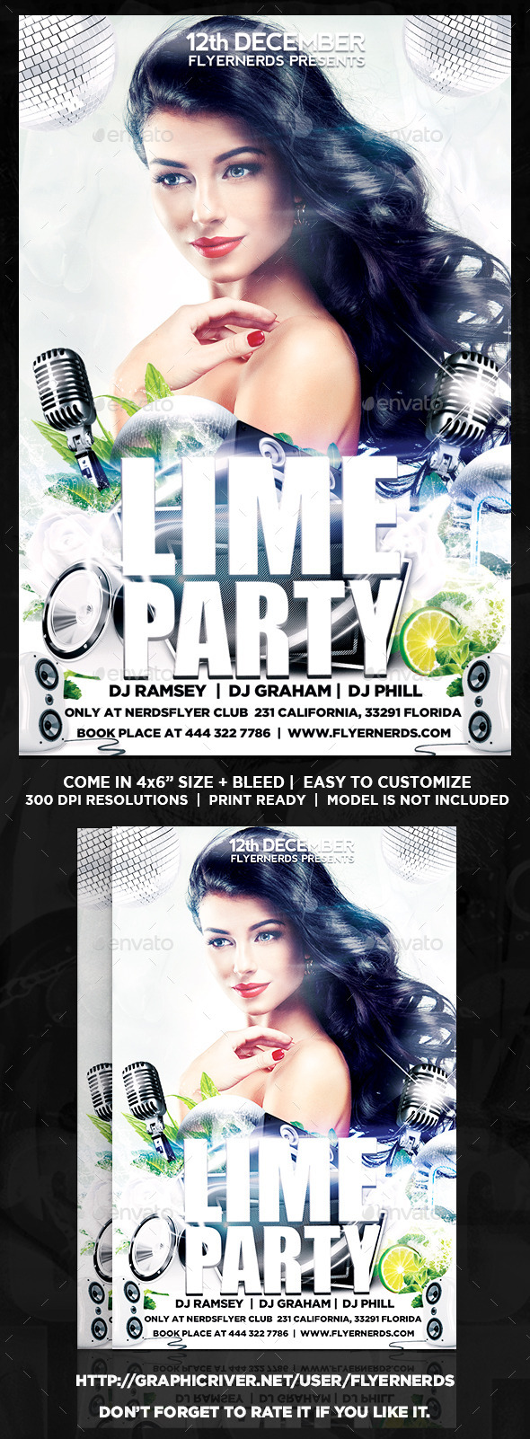 The Lime Night Party Flyer - Clubs & Parties Events