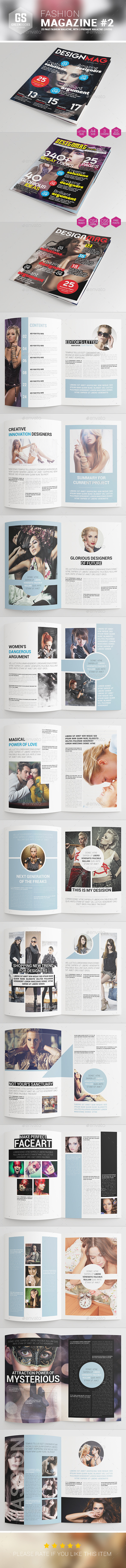 Fashion Magazine #2 - Magazines Print Templates