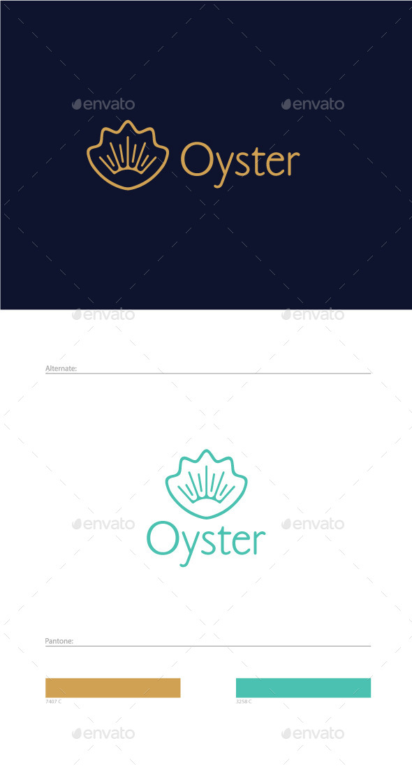 Oyster Logo Template - Nature Logo Templates