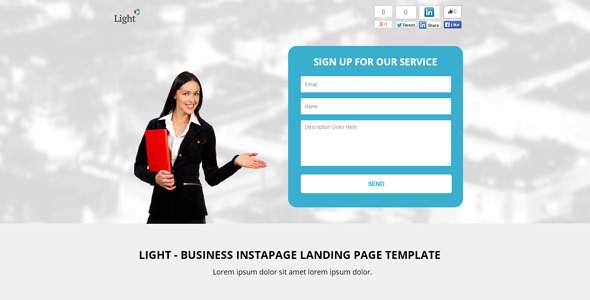 Download Light - Business Instapage Landing Page Template nulled version