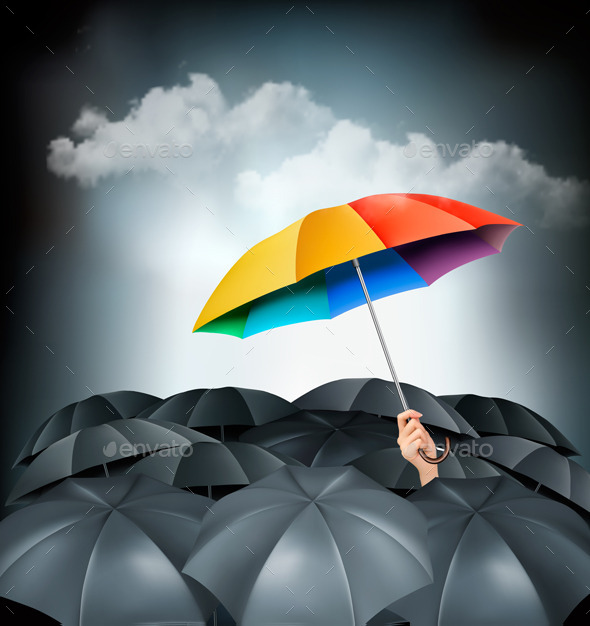 One Rainbow Umbrella  - Concepts Business