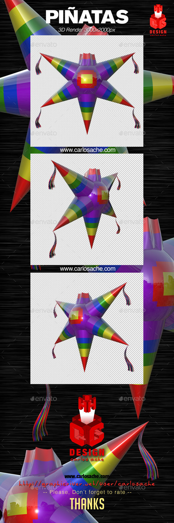 Piñata - 3D Render - Objects 3D Renders