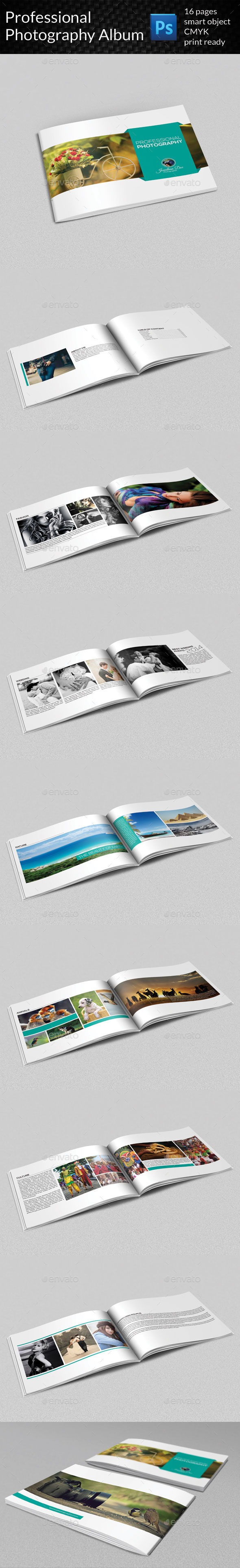 Professional Photography Album - Photo Albums Print Templates
