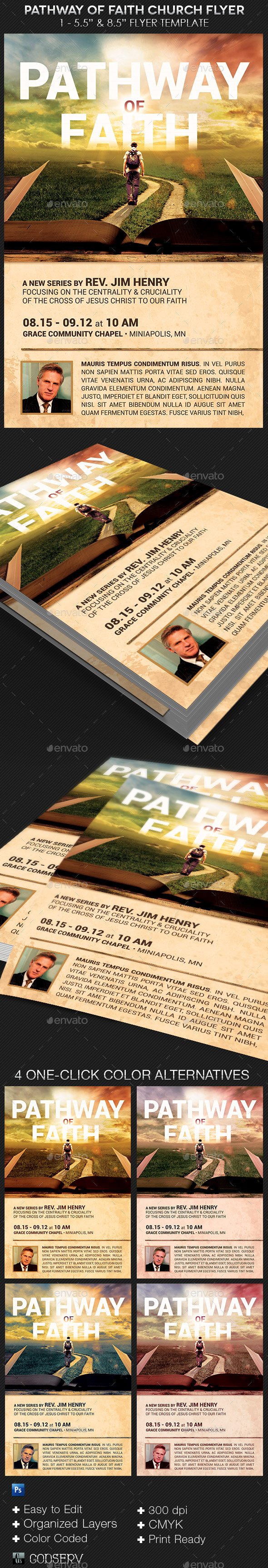 Faith Pathway Church Flyer Template - Church Flyers
