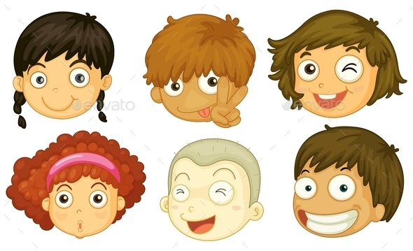 Kids Portraits - People Characters