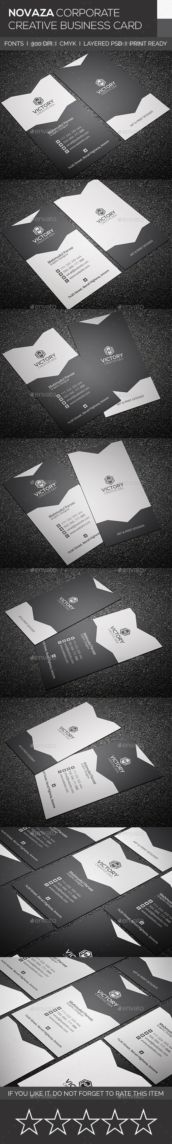 Novaza Corporate & Creative Business Card - Corporate Business Cards