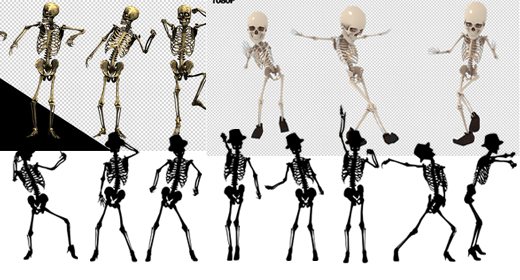 Skeleton Dance Motion Graphics