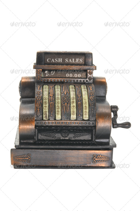 Miniature Cash Register - Stock Photo - Images