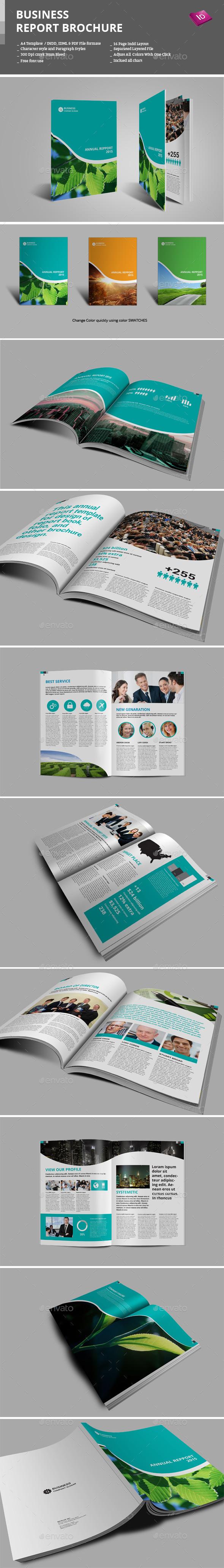 Business Report Brochure - Informational Brochures