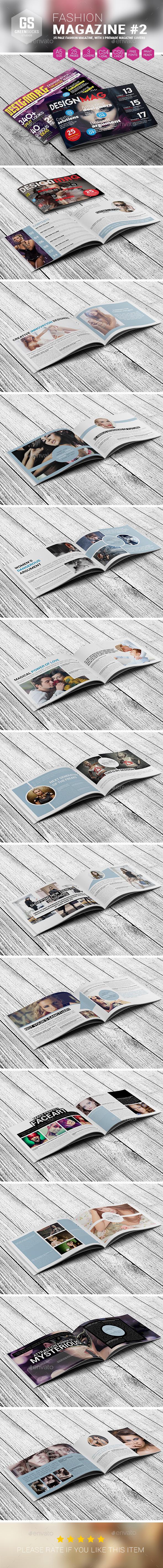 Landscape Fashion Magazine #2 - Magazines Print Templates
