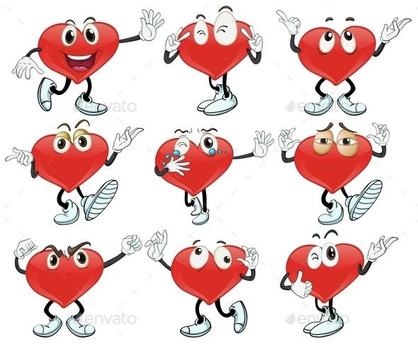 Hearts - Characters Vectors
