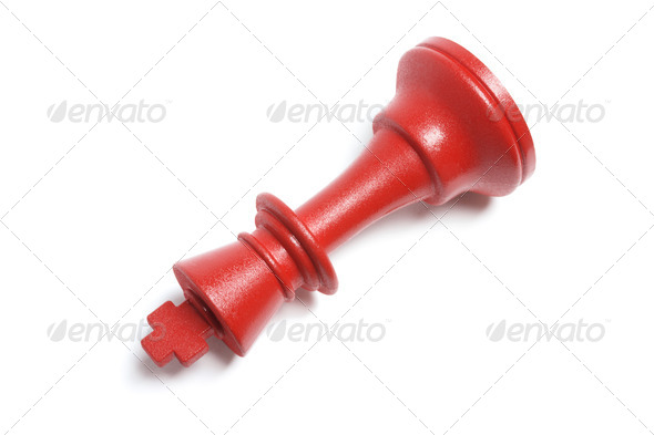 Red King Chess Piece - Stock Photo - Images