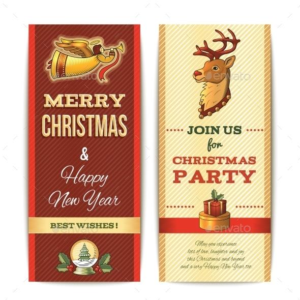 Vertical Christmas Banner  - Christmas Seasons/Holidays