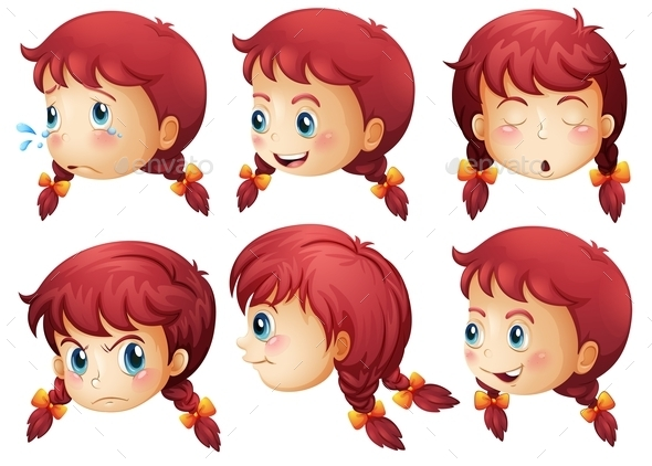 Girl Expressions - People Characters