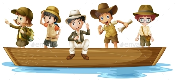 Young Explorers - People Characters