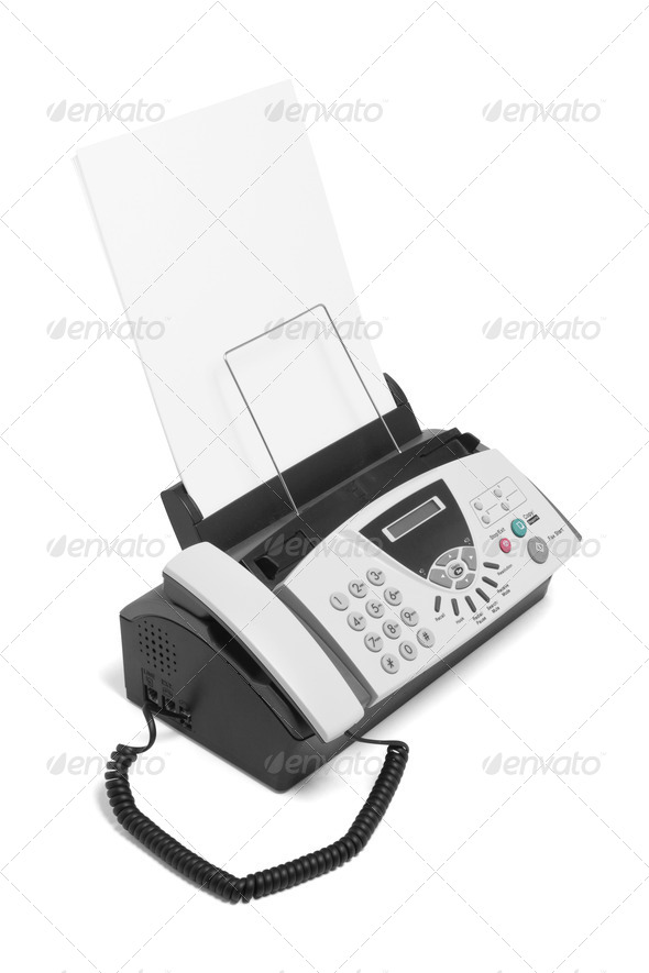 Fax Machine - Stock Photo - Images