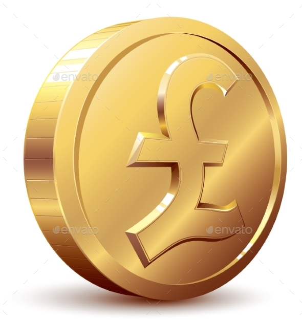 Pound Coin - Business Conceptual