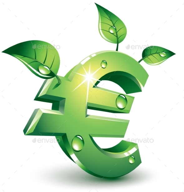Flourishing Euro - Business Conceptual