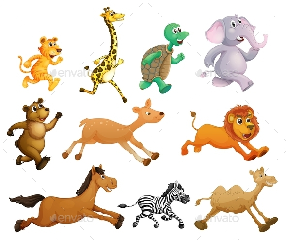 Running Animals - Animals Characters