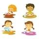 Kids Having Food