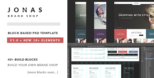 JONAS | Brand Shop PSD Template