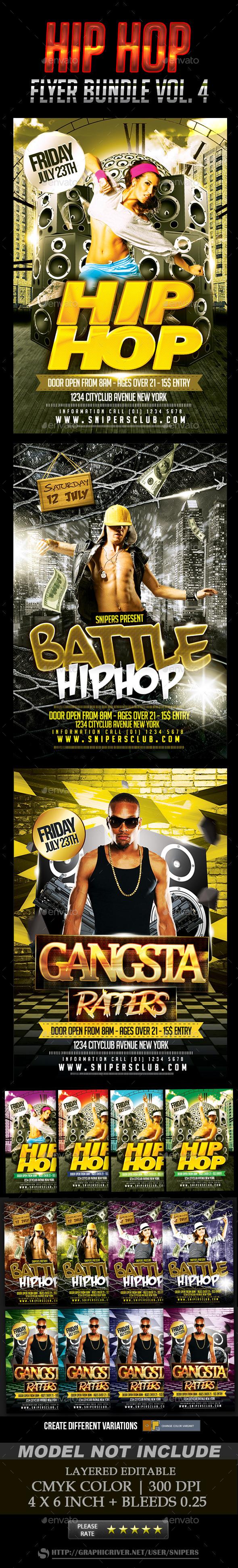 Hip Hop Flyer Bundle Vol. 4 - Events Flyers
