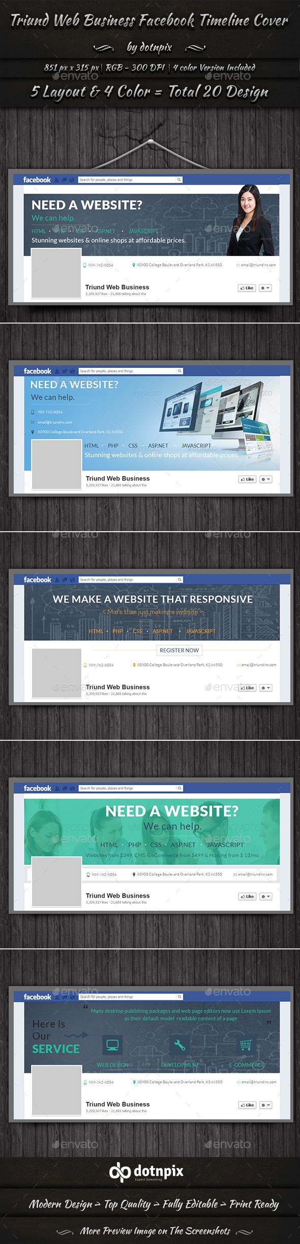 Triund Web Business Facebook Timeline Cover - Facebook Timeline Covers Social Media