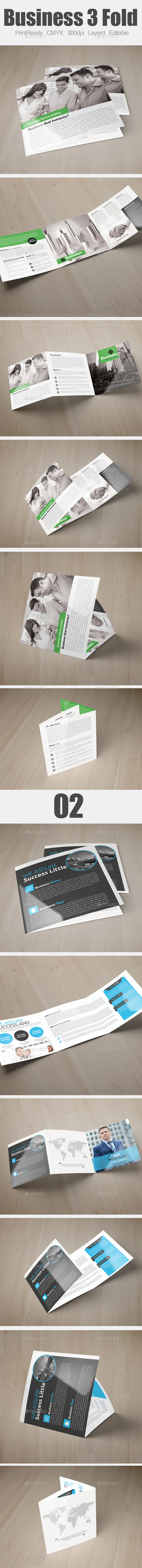 Multi Use Business Square Trifold Bundle - Brochures Print Templates
