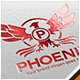 Phoenix Letter Crest Logo - GraphicRiver Item for Sale