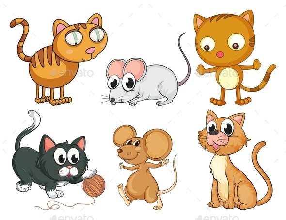 Cats and Mice - Animals Characters