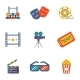 Cinema and Movie flat icon set  - GraphicRiver Item for Sale